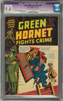 Green Hornet Comics #40 CGC 9.4 Apparent Slight (C-1) Restoration (C-OW) *1332802014*