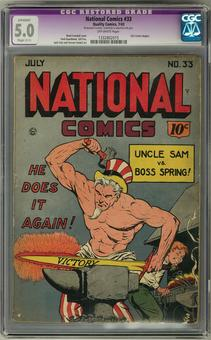 National Comics #33 CGC 5.0 Apparent Slight (C-1) Restoration (OW) *1332802015*