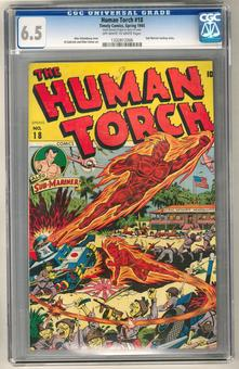 Human Torch #18 CGC 6.5 (OW-W) *1332812006*