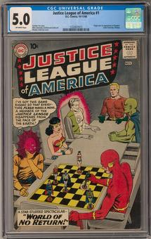Justice League of America #1 CGC 5.0 (OW) *1332837015*