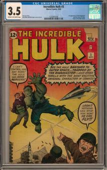 Incredible Hulk #3 CGC 3.5 (C-OW) *1332847008*