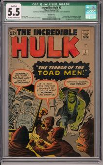 Incredible Hulk #2 CGC 5.5 (OW-W) *1332847009* Qualified