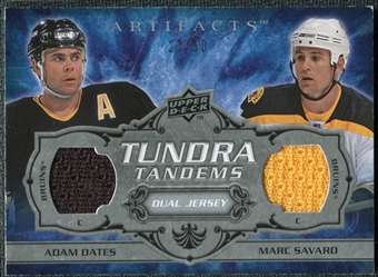 2008/09 Upper Deck Artifacts Tundra Tandems Silver #TTOS Marc Savard Adam Oates /50