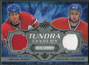 2008/09 Upper Deck Artifacts Tundra Tandems Silver #TTRL Michael Ryder Guillaume Latendresse /50