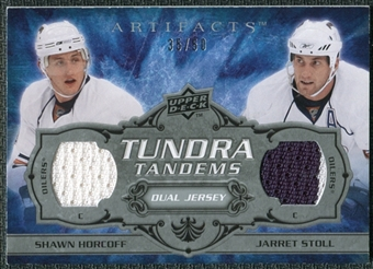 2008/09 Upper Deck Artifacts Tundra Tandems Silver #TTSH Jarret Stoll Shawn Horcoff /50