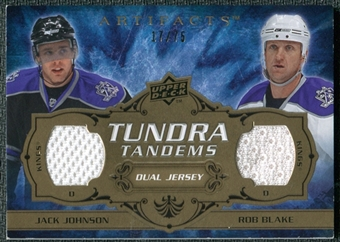 2008/09 Upper Deck Artifacts Tundra Tandems Bronze #TTBJ Jack Johnson Rob Blake /75