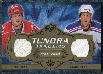 2008/09 Upper Deck Artifacts Tundra Tandems Bronze #TTEM Eric Staal Marc Staal /75