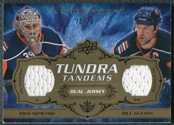 2008/09 Upper Deck Artifacts Tundra Tandems Bronze #TTNY Rick DiPietro Bill Guerin /75