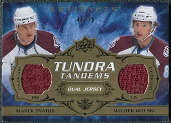 2008/09 Upper Deck Artifacts Tundra Tandems Bronze #TTSW Marek Svatos Wojtek Wolski /75