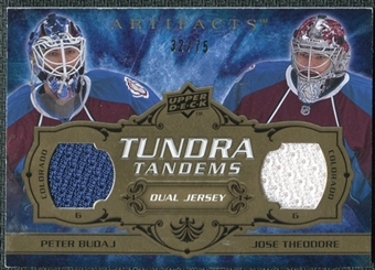2008/09 Upper Deck Artifacts Tundra Tandems Bronze #TTTB Peter Budaj Jose Theodore /75