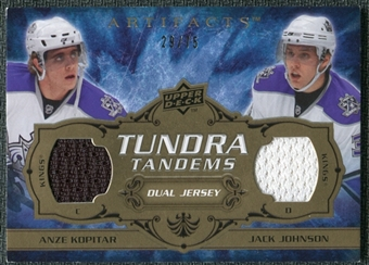 2008/09 Upper Deck Artifacts Tundra Tandems Bronze #TTKJ Anze Kopitar Jack Johnson /75