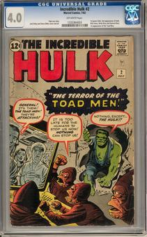 Incredible Hulk #2 CGC 4.0 (OW) *1333364003*