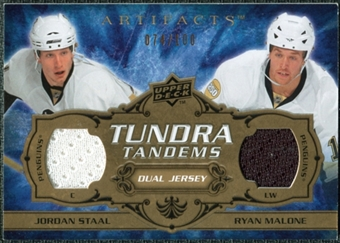 2008/09 Upper Deck Artifacts Tundra Tandems #TTJR Jordan Staal Ryan Malone /100