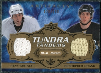 2008/09 Upper Deck Artifacts Tundra Tandems #TTWL Ryan Whitney Kristopher Letang /100