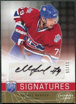 2008/09 Upper Deck Be A Player Signatures Player's Club #SMAR Andrei Markov Autographs /15