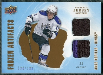 2008/09 Upper Deck Artifacts Frozen Artifacts Dual #FADAK Anze Kopitar /199