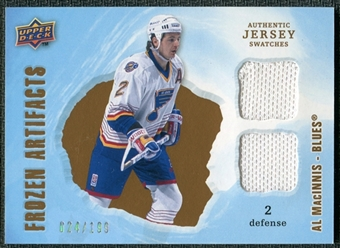 2008/09 Upper Deck Artifacts Frozen Artifacts Dual #FADAM Al MacInnis /199