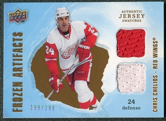 2008/09 Upper Deck Artifacts Frozen Artifacts Dual #FADCC Chris Chelios /199