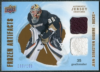 2008/09 Upper Deck Artifacts Frozen Artifacts Dual #FADJG Jean-Sebastien Giguere /199