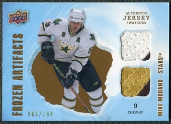 2008/09 Upper Deck Artifacts Frozen Artifacts Dual #FADMO Mike Modano /199