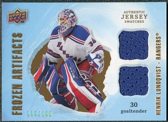 2008/09 Upper Deck Artifacts Frozen Artifacts Dual #FADHL Henrik Lundqvist /199
