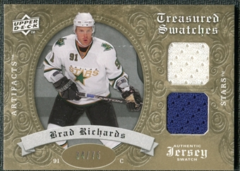 2008/09 Upper Deck Artifacts Treasured Swatches Dual Gold #TSDBR Brad Richards /75