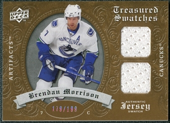 2008/09 Upper Deck Artifacts Treasured Swatches Dual #TSDBM Brendan Morrison /199