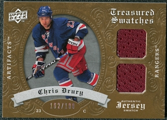 2008/09 Upper Deck Artifacts Treasured Swatches Dual #TSDCD Chris Drury /199