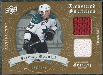 2008/09 Upper Deck Artifacts Treasured Swatches Dual #TSDJR Jeremy Roenick /199