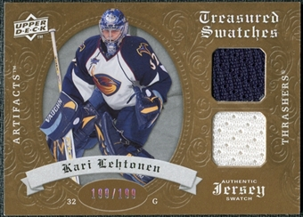 2008/09 Upper Deck Artifacts Treasured Swatches Dual #TSDKL Kari Lehtonen /199