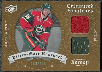 2008/09 Upper Deck Artifacts Treasured Swatches Dual #TSDPB Pierre-Marc Bouchard /199