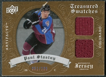 2008/09 Upper Deck Artifacts Treasured Swatches Dual #TSDPS Paul Stastny /199