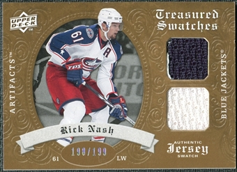 2008/09 Upper Deck Artifacts Treasured Swatches Dual #TSDRN Rick Nash /199
