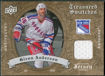2008/09 Upper Deck Artifacts Treasured Swatches Retail #TSGA Glenn Anderson