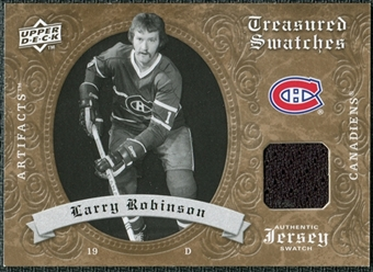 2008/09 Upper Deck Artifacts Treasured Swatches Retail #TSLR Larry Robinson