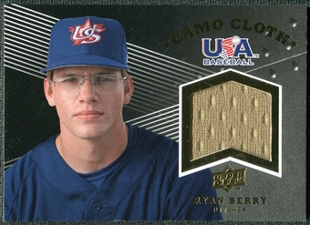 2008 Upper Deck USA Baseball Camo Cloth Jerseys #CC2 Ryan Berry
