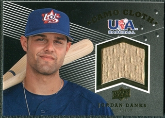 2008 Upper Deck USA Baseball Camo Cloth Jerseys #CC3 Jordan Danks