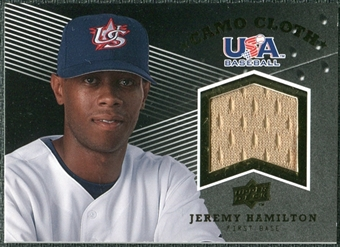 2008 Upper Deck USA Baseball Camo Cloth Jerseys #CC7 Jeremy Hamilton