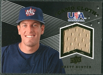 2008 Upper Deck USA Baseball Camo Cloth Jerseys #CC8 Brett Hunter