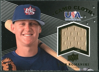 2008 Upper Deck USA Baseball Camo Cloth Jerseys #CC17 Josh Romanski