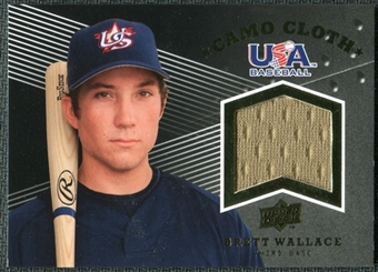 2008 Upper Deck USA Baseball Camo Cloth Jerseys #CC22 Brett Wallace