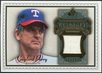2009 Upper Deck SP Legendary Cuts Legendary Memorabilia #GP3 Gaylord Perry /125