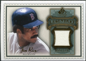 2009 Upper Deck SP Legendary Cuts Legendary Memorabilia #JR2 Jim Rice /125