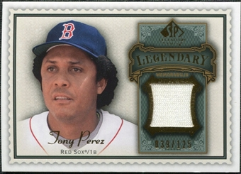 2009 Upper Deck SP Legendary Cuts Legendary Memorabilia #TP Tony Perez /125