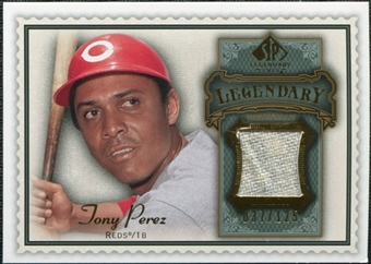 2009 Upper Deck SP Legendary Cuts Legendary Memorabilia #TP2 Tony Perez /125