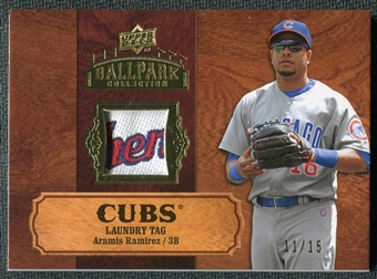 2008 Upper Deck Ballpark Collection Jersey Laundry Tag #10 Aramis Ramirez /15