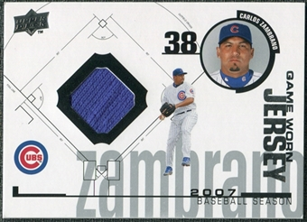 2008 Upper Deck UD Game Materials 1998 #CZ Carlos Zambrano