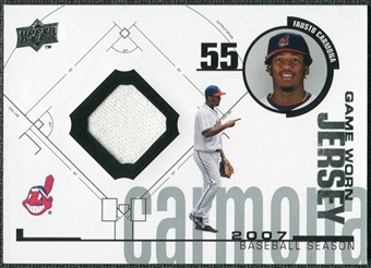 2008 Upper Deck UD Game Materials 1998 #FC Fausto Carmona