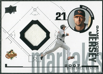 2008 Upper Deck UD Game Materials 1998 #NM Nick Markakis