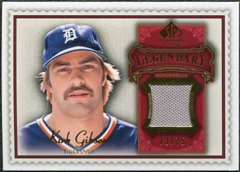 2009 Upper Deck SP Legendary Cuts Legendary Memorabilia Red #GK Kirk Gibson /75